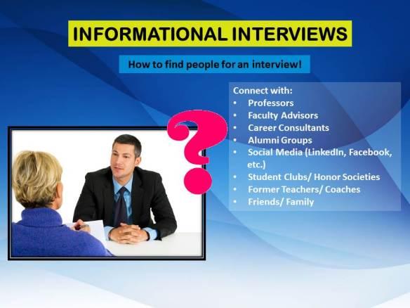 Informational Interviews - Sarah Young