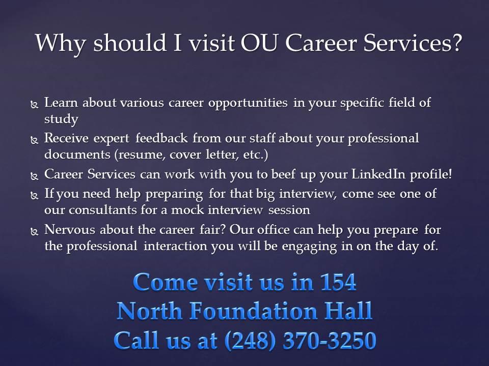 faraz haq oakland university career services